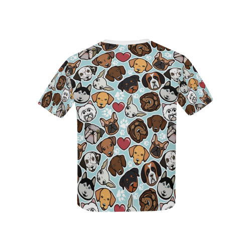 Kid's All Over Print T-shirt (USA Size)(ModelT40)(Solid Color Collar)
