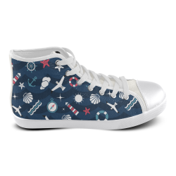 High Top Canvas Women's Shoes (Model002)
