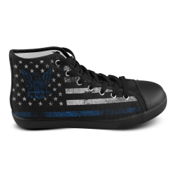High Top Canvas Men's Shoes (Model002)