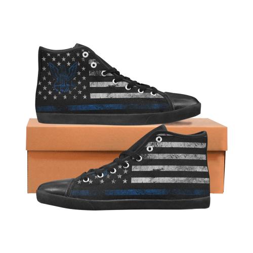 High Top Canvas Men's Shoes (Model002)