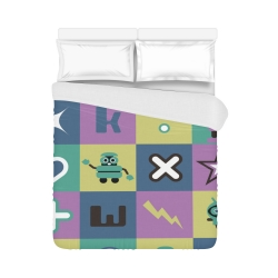 "Duvet Cover 86""x70"" (One Side) All-over-print"