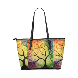 Leather Tote Bag(Model1640) (Small)