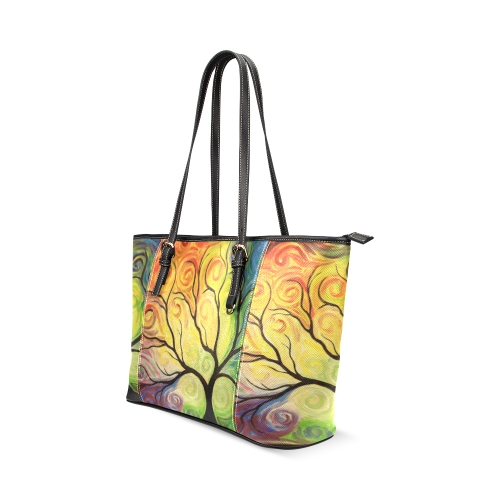 Custom Print Leather Tote Bag Small Sell Your Designs
