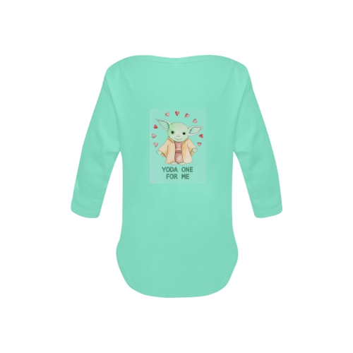 Baby Powder Organic Long Sleeve One Piece (Model T27)