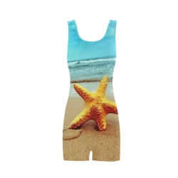 Women's One Piece Boyleg Swimsuit