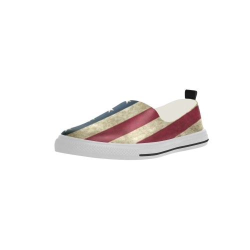 Apus Slip-on Microfiber Women's Shoes (Model021) (Two Shoes With Different Printing)