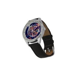 Men's Leather Strap Analog Watch(Model209)
