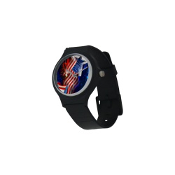 Unisex Round Plastic Watch(Model302)