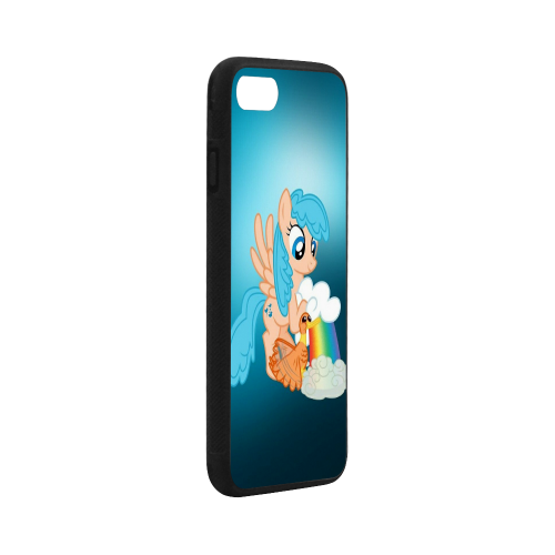 """Rubber Case for iPhone 7 (4.7"""") (with Hard Plastic Back)"""