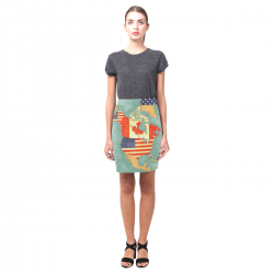 Women's Pencil Skirt (Model D02)