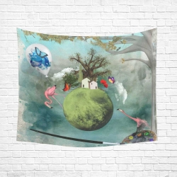 "Cotton Linen Wall Tapestry 60""x 51"""