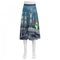 Women's Crepe Skirt(Model D16)