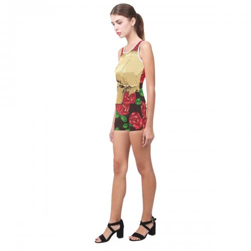Women's One Piece Boyleg Swimsuit (Model S03)