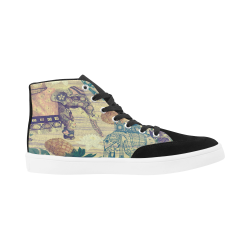 Bootes High Top Canvas Women's Shoes (Model 038) (Large Size)
