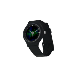 Black Round Plastic Watch (Model306)