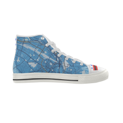 Aquila II High Top Canvas Men's Shoes (Model 041) (Large Size)