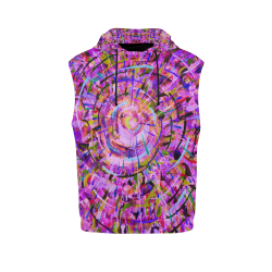 Women's All Over Print Sleeveless Hoodie (Model H15)