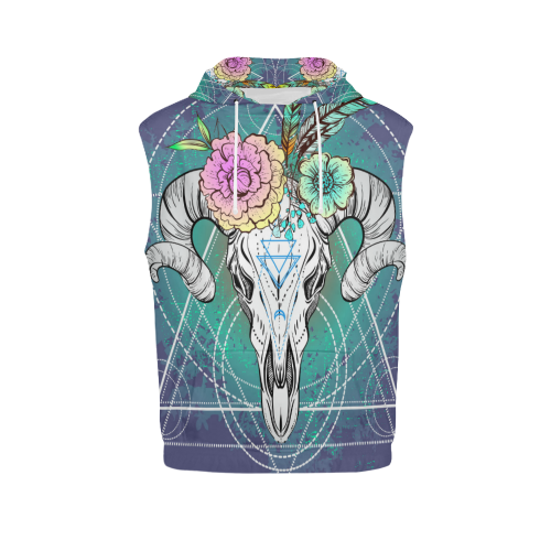 Men's All Over Print Sleeveless Hoodie (Model H15)