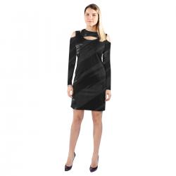 Halter Off Shoulder Long-Sleeve Dress (Model 37)