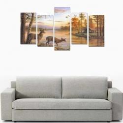 Canvas Wall Art Prints (No Frame) 5-Pieces/Set E