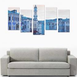 Canvas Wall Art Prints (No Frame) 5-Pieces/Set F