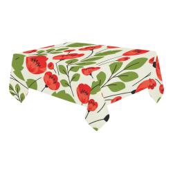 "Cotton Linen Tablecloth 90""x60"""