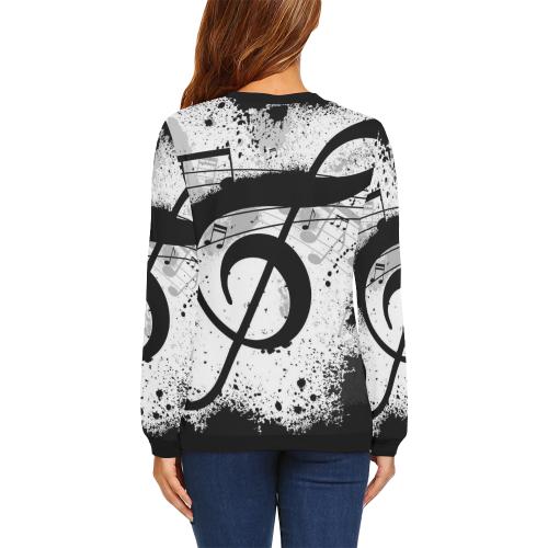 Women's All Over Print Sweatshirt (Model H18)
