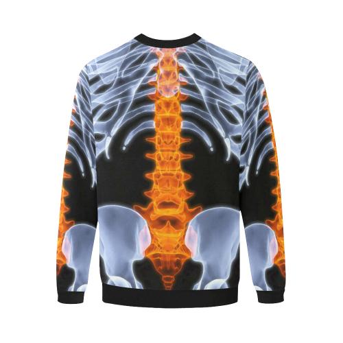 Men's All Over Print Fuzzy Sweatshirt (Model H18)