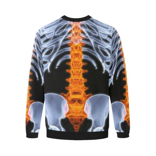 Plus-size Men's All Over Print Fuzzy Sweatshirt (Model H18)