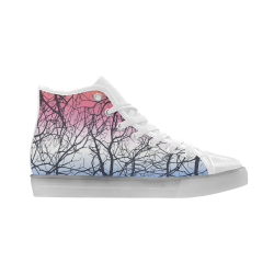 High Top LED Light Up Canvas Women's Shoes (Model045)