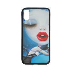 Rubber Case for iPhone X (with Hard Plastic Back)