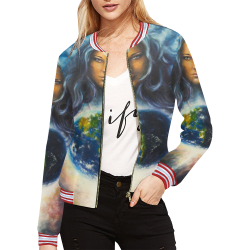 Women's All Over Print Casual Jacket (Model H20)