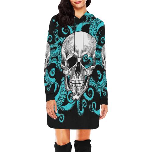 Women's All Over Print Hoodie Mini Dress (Model H27)