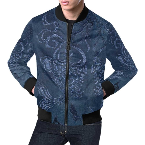 Men's All Over Print Casual Jacket (Model H19) (Large Size)