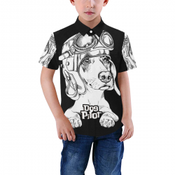 Kid's All Over Print Short Sleeve Shirt (Model T59)