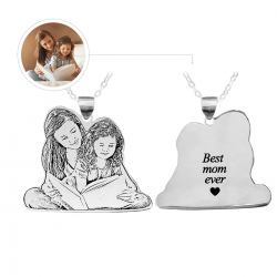 Personalized Mom Necklace Sterling Silver 925