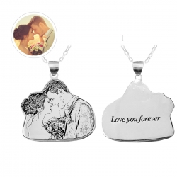 Personalized Couple Necklace Sterling Silver 925