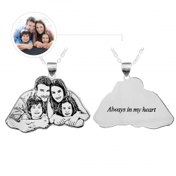 Personalized Family Necklace Sterling Silver 925
