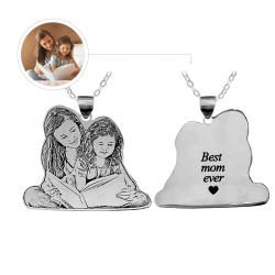 Personalized Mom Necklace Titanium Steel