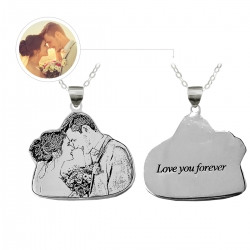 Personalized Couple Necklace Titanium Steel