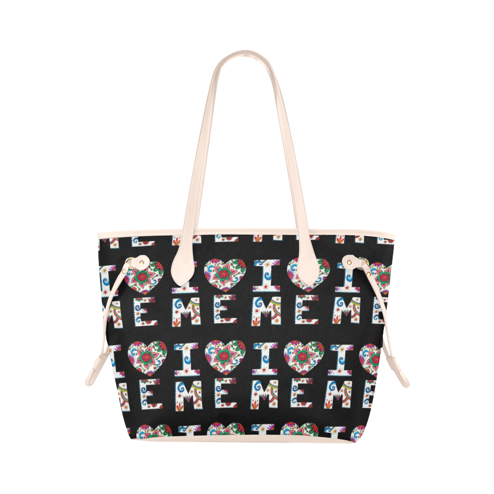 I Love Me Classic tote black and pink