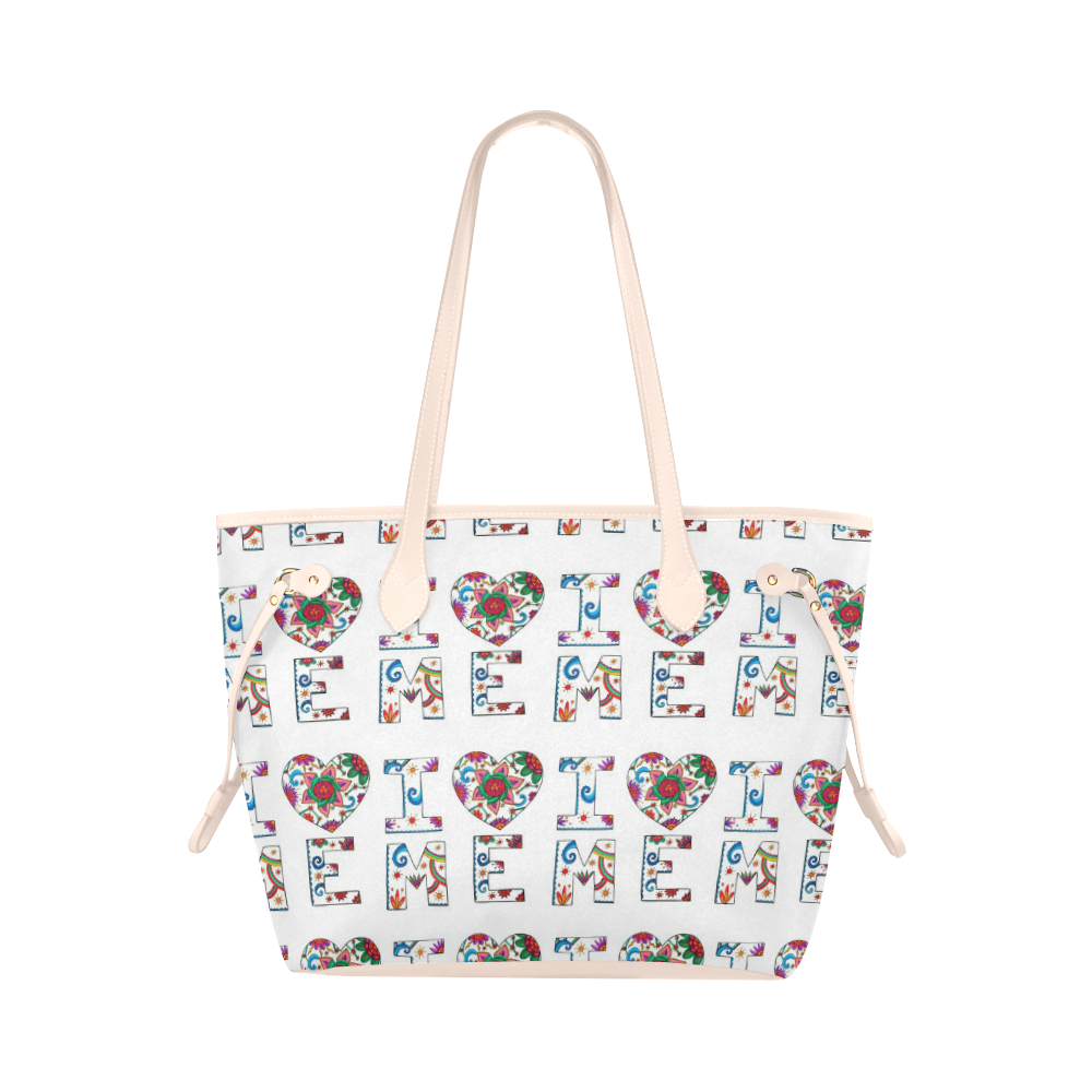 I Love Me Classic tote bag white and pink