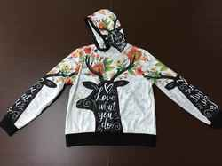 Women's All Over Print Turtleneck Pullover Hoodie (Model H24)