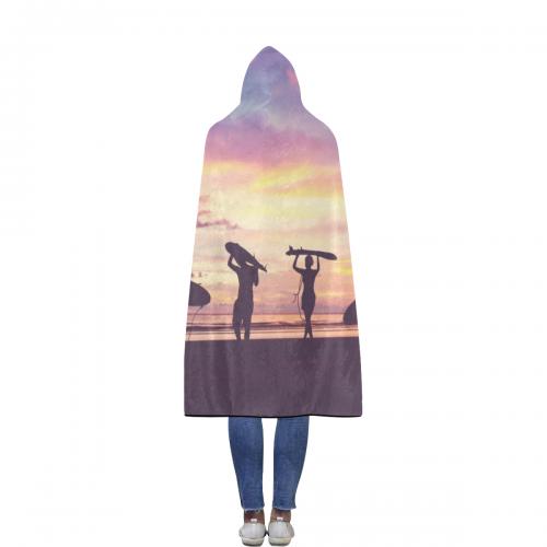 "Flannel Hooded Blanket 56""x80"""