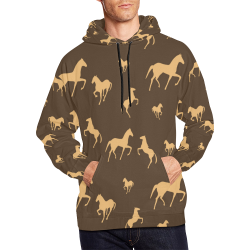 Men's All Over Print Hoodie (USA Size)(Large Size)(Model H13)
