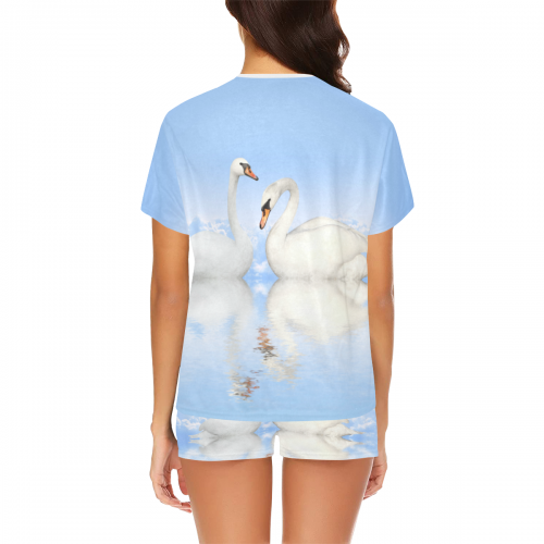 Women's Short Pajama Set(ModelSets01)