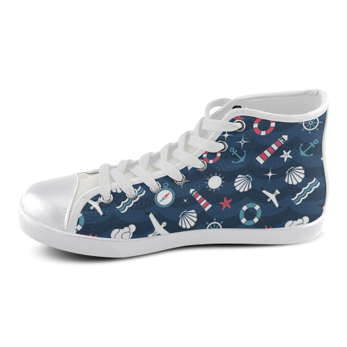 High Top Canvas Women's Shoes (Model 002)