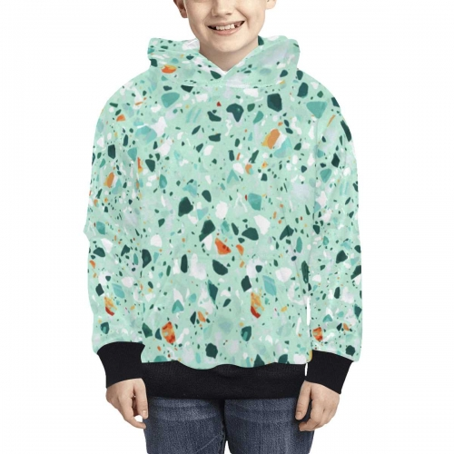 Kid's All Over Print Fuzzy Hoodie(USA Size)(ModelH38)