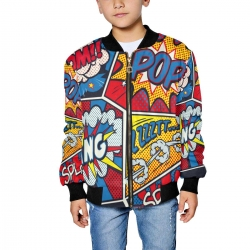 Kid's All Over Print Bomber Jacket(ModelH40)