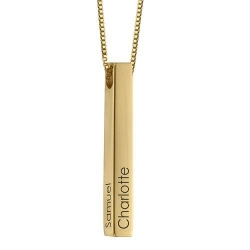 Personalized 3D Bar Name Necklace(Copper)(Gold Color)